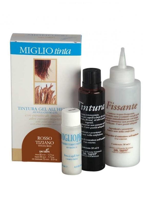 Barva na vlasy s hennou Červený tizian-Miglio Tinta Rosso Tiziano ... 34a464de0af